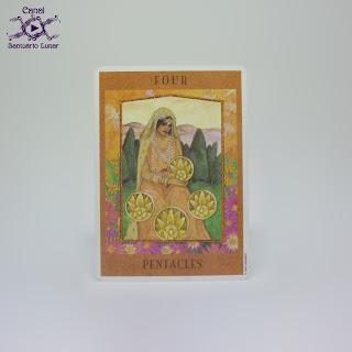 The Goddess Tarot (US Games System) - 4 of Pentacles