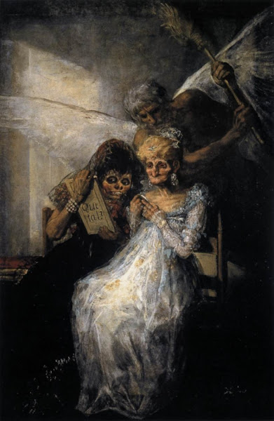 Time and the Old Women by Francisco de Goya, Macabre Art, Macabre Paintings, Horror Paintings, Freak Art, Freak Paintings, Horror Picture, Terror Pictures