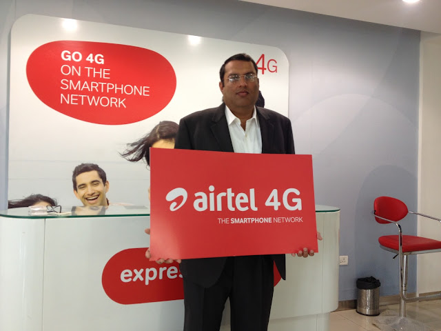 Manu Sood, Hub CEO – Upper North, Bharti Airtel on the occasion of 4G launch in Solan Pic/Photo/Image