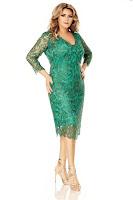 Rochie verde Plus Size Arella • Miss Grey