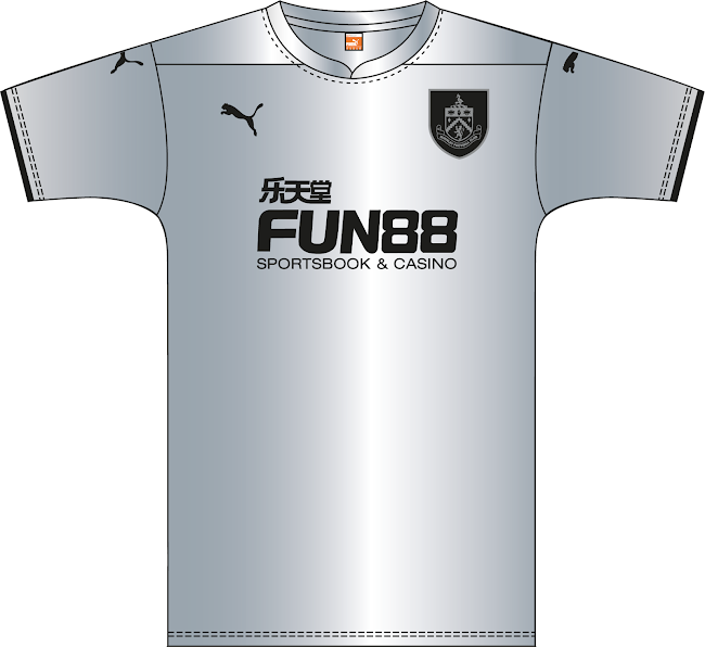 1fae33ad2ae Based on the same template as the away shirt, the new Burnley Third Kit is  all-silver with black applications. The new Burnley 14-15 Third Kit uses a  tonal ...