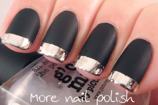 'day matte black with silver tips