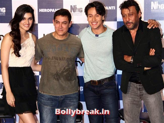 Kriti Sanon, Kriti Sanon and Tiger Shroff and Tiger Shroff, Kriti Sanon at Heropanti Movie Trailer Launch