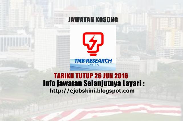 Jawatan Kosong TNB Research Sdn Bhd
