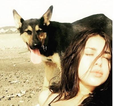 ابنة رندة مرعشلي بملابس البحر مع كلبها.. شاهد