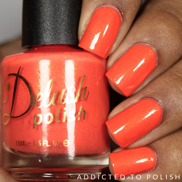 Delush Polish I Love It When You Call Me Big Papaya Nautical by Nature Swatches and Review