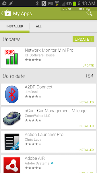 Google Play Store 4.0.25 my apps