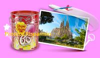 Logo Con Chupa Chups e 60th Anniversary! Win&Fly vinci 60 latte con 150 lollipop e 6 weekend a Barcellona