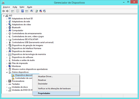 "Como encontrar drivers para ""dispositivos desconhecidos"" no Windows"