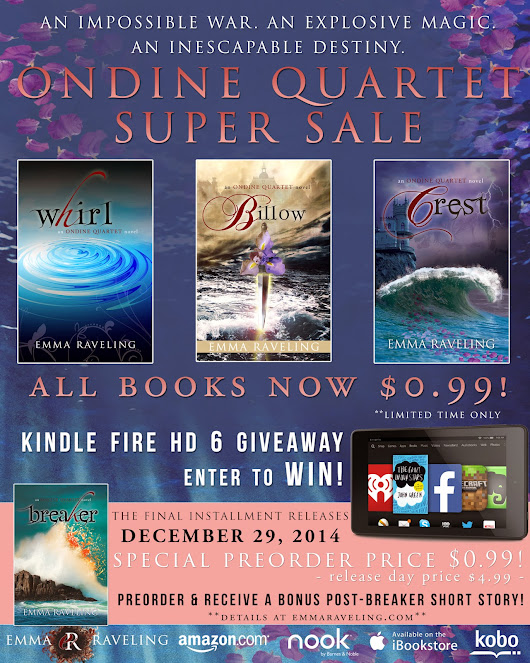 Paromantasy - For Paranormal Romance & Urban Fantasy Fans: Emma Raveling's  Ondine Quartet  Urban Fantasy Series Blog Hop with Giveaways, Interviews, Sales and Fun!!