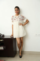 Lavanya Tripathi in Summer Style Spicy Short White Dress at her Interview  Exclusive 143.JPG