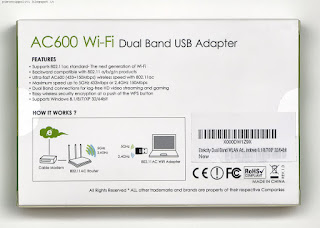 Etekcity AC600 Wi-Fi Dual Band USB Adapter