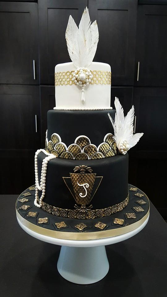 Great Gatsby Birthday Cake