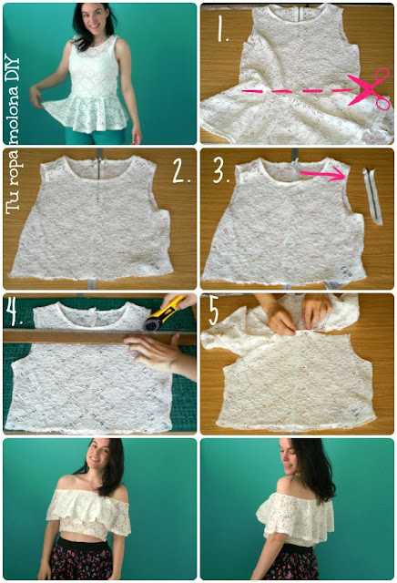 diy escote bardot