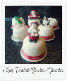 These 6 easy to make fondant Christmas characters & shapes make great toppers for cakes, large and small.  They can easily be customised to your own ideas and are great fun to create as a family activity.