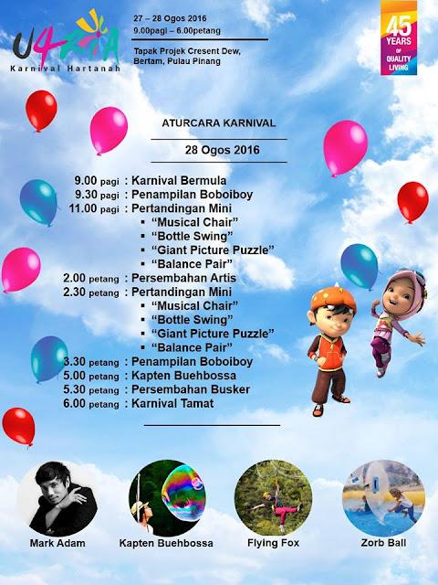 Aturcara Karnival Hartanah U4RIA di Pulau Pinang