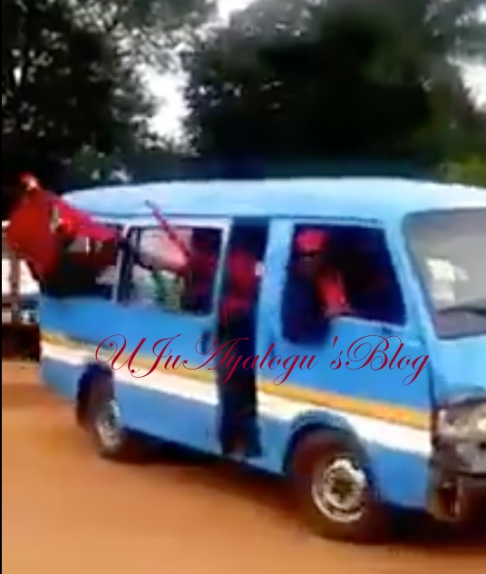 Check out Biafra's LION SQUAD on its way to give Maximum Protection to IPOB'S Supreme Leader, Kanu Following Army's Invasion of his residence (VIDEO)