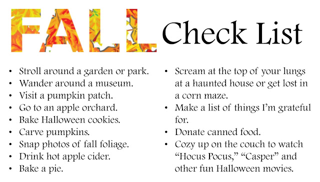 Fall Check List