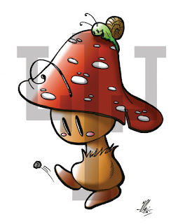 Ilaria Del Bianco - Pc drawing - Mushy-Mushy Mushroom