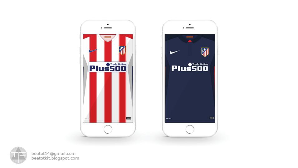 Beetot Kit Atletico Madrid Kit 15 16 Iphone 6 Wallpaper