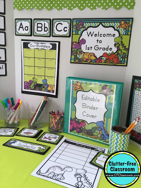 Free Classroom Decoration Ideas ~ Dinosaur themed classroom ideas printable