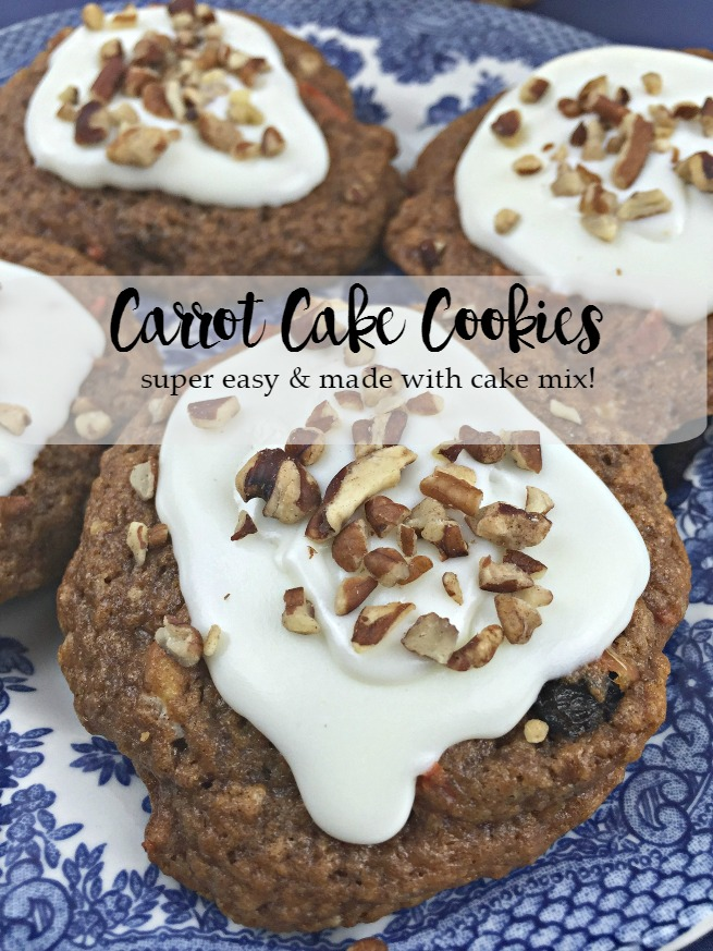 The Best EVER Carrot Cake Mix Cookies Recipe