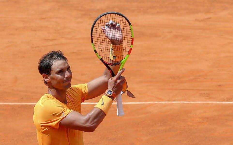 Tennis Roma: Nadal batte Fognini in rimonta e accede alla semifinale
