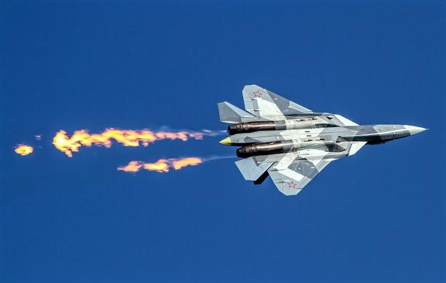 su-57 flame thrust