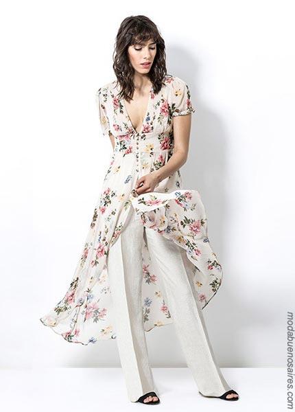 Moda primavera verano 2019 │ Spolverinos, sacos, pantalones y blusas primavera verano 2019.
