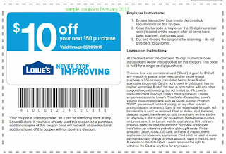 Lowes coupons february 2019