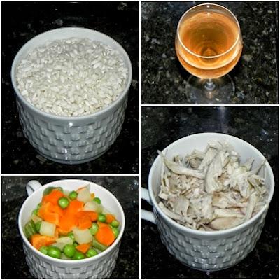 ingredientes da receita de risotto caipira
