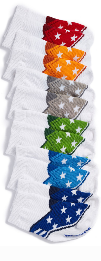 Trumpette Star Socks (6-Pack) (Baby Boys)