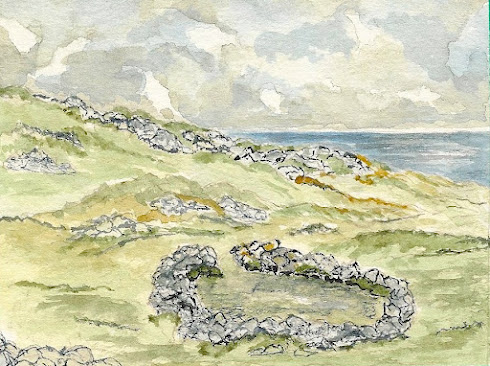 The Hermit's Cell: IONA (Watercolour)