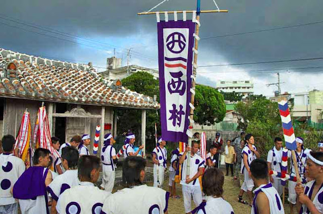 Rituals at a priestess home in Okinawa