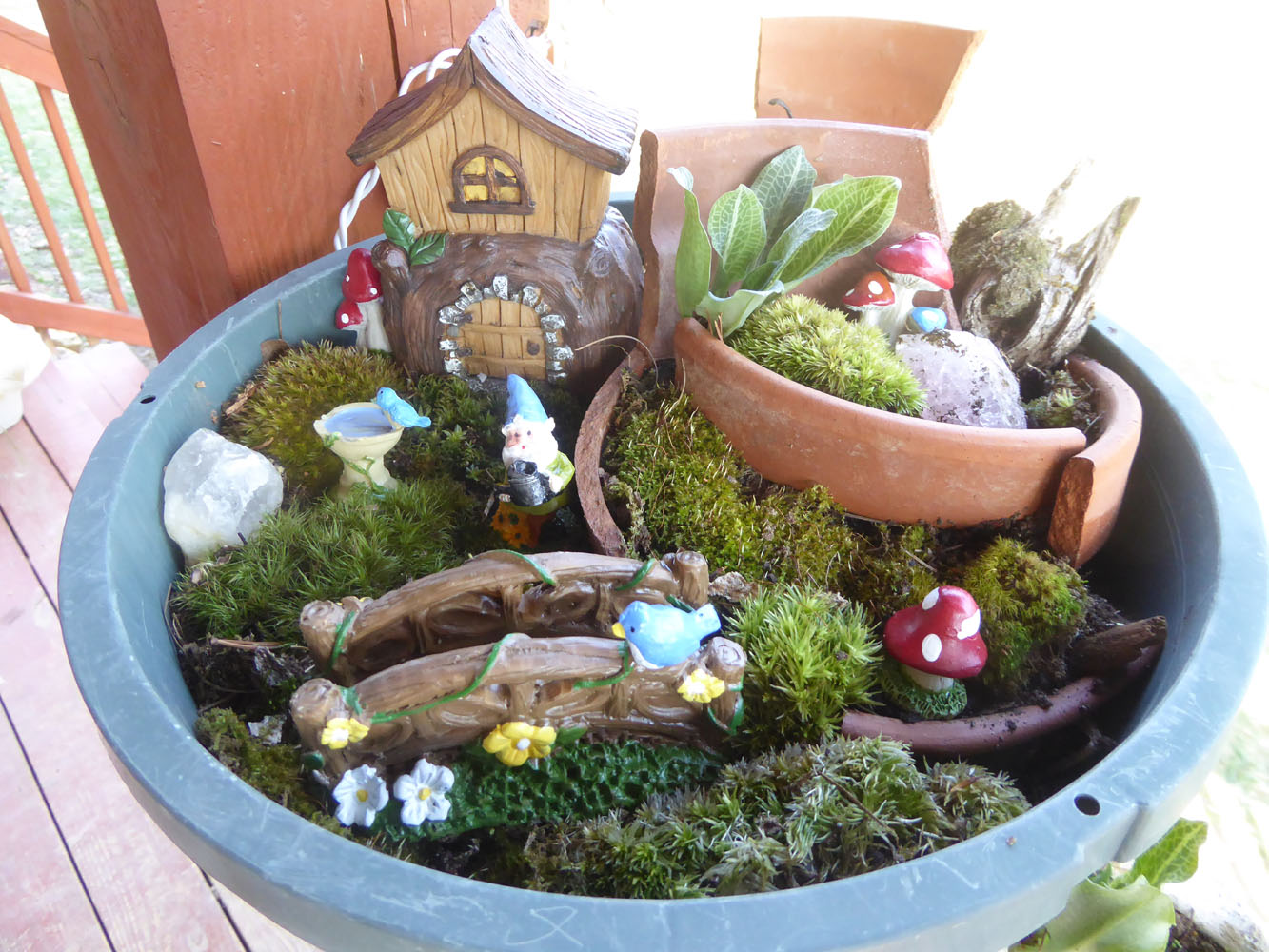 The First One We Made I Just Used An Old Pot I Already Had. Itu0027s Actually A  Recycled Fairy Garden, That We Created Last Year. We Collected New Moss And  ...