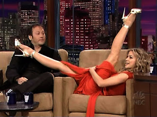 Carmen Electra Legs Stretching On A TV Program 2