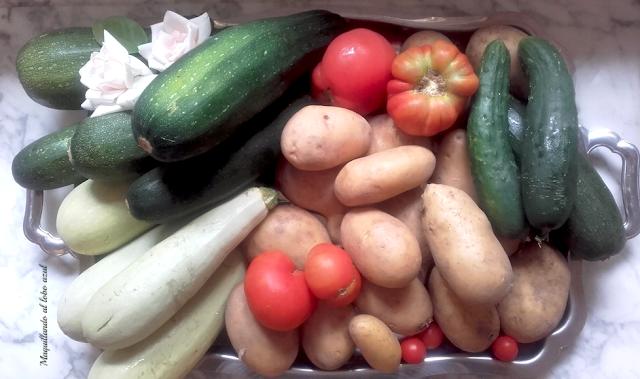 Cultivo ecológico de patatas, tomates, calabacines y pepinos