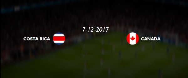 COSTA RICA vs Canada live stream