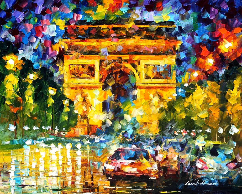 Paris - Pinturas de Leonid Afremov | O mestres da  espátula