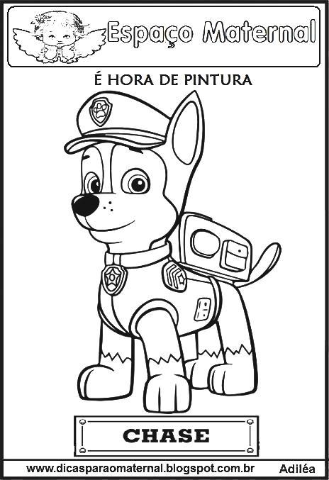 Desenhos Para Colorir Patrulha Canina Espaco Maternal