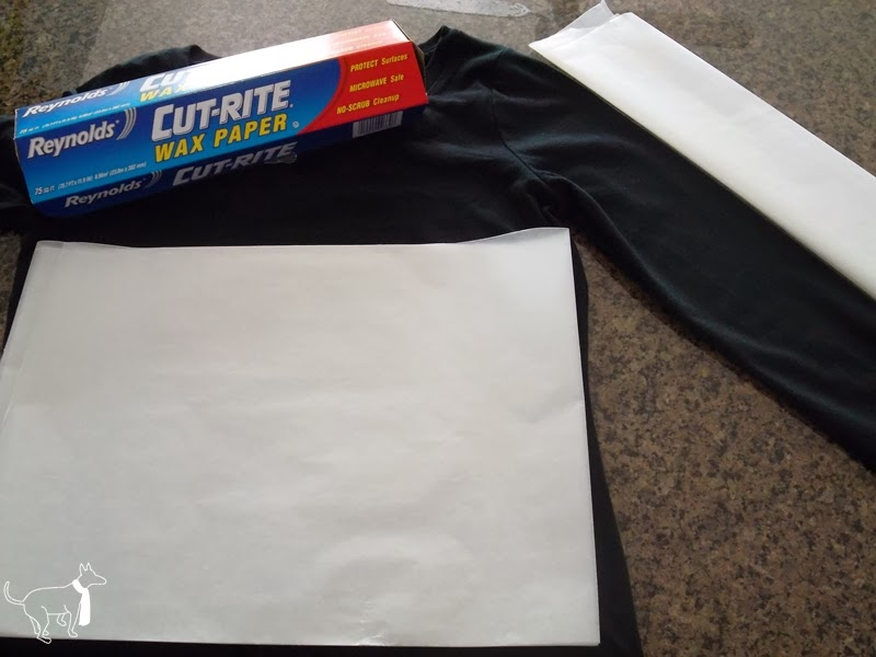 Protect your fabric with Reynolds wax paper when using bleach to dye fabric