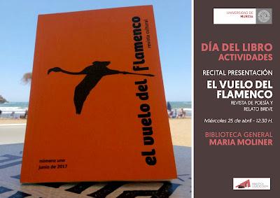"""Día del Libro 2018: Recital presentación """"el vuelo del flamenco"""""""
