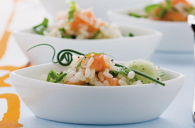 Volpetti's legendary rice salad with caviar, salmon and mayo