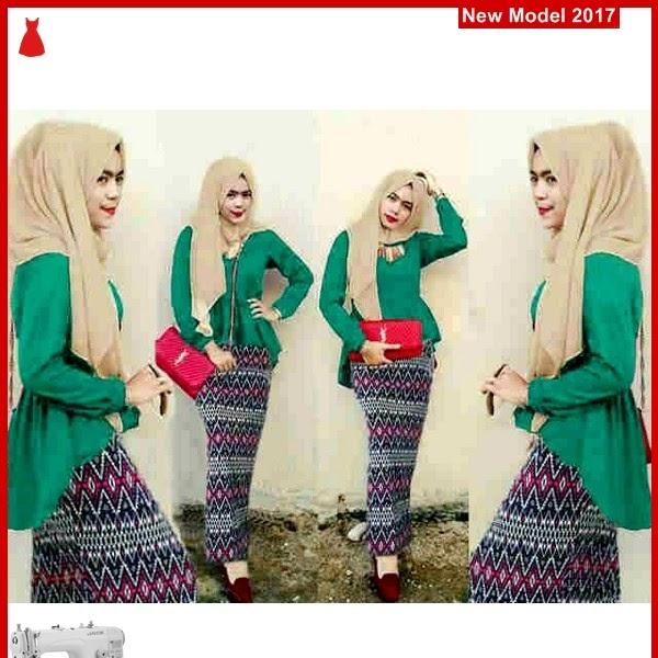 MSF0098 Model Hijab Peplum Heros Tribal Toska BMG