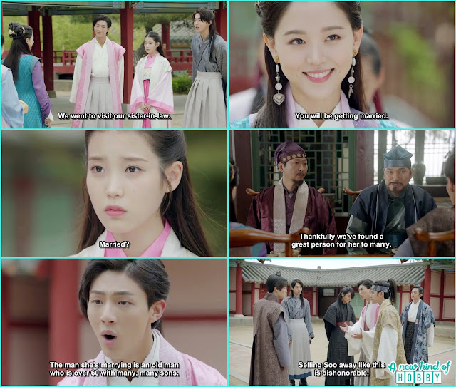 yeon hwa told Hae Soo is getting married soon and th eprince become all worried - Moon Lovers Scarlet Heart Ryeo - Episode 6 Review