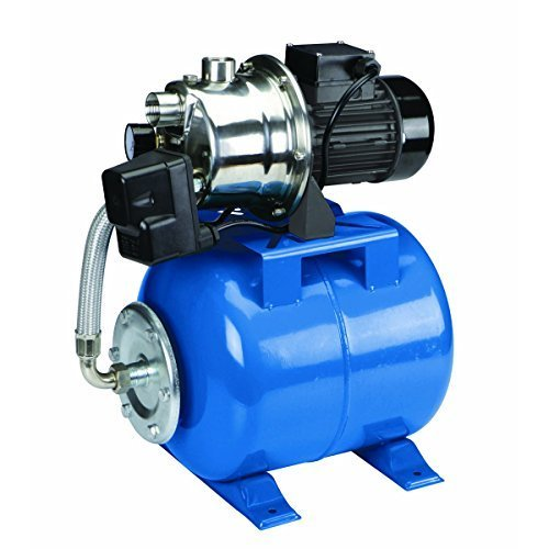 9 1 HP Stainless Steel Shallow Well Pump and Tank with Pressure Control Switch