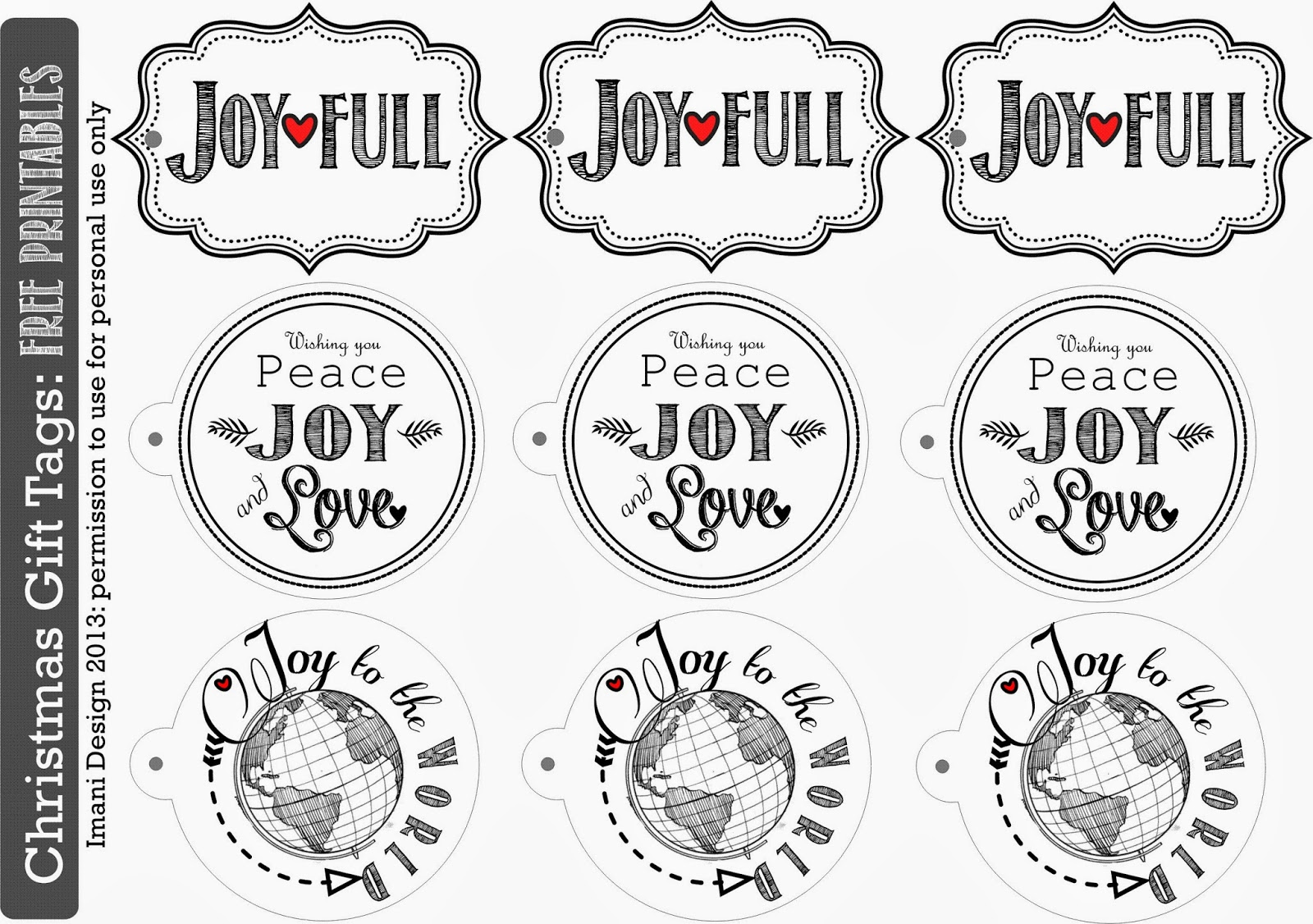 Sublime Living Christmas Holiday T Tags Free Printable