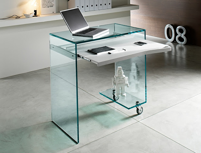 best modern home office desk glass for sale