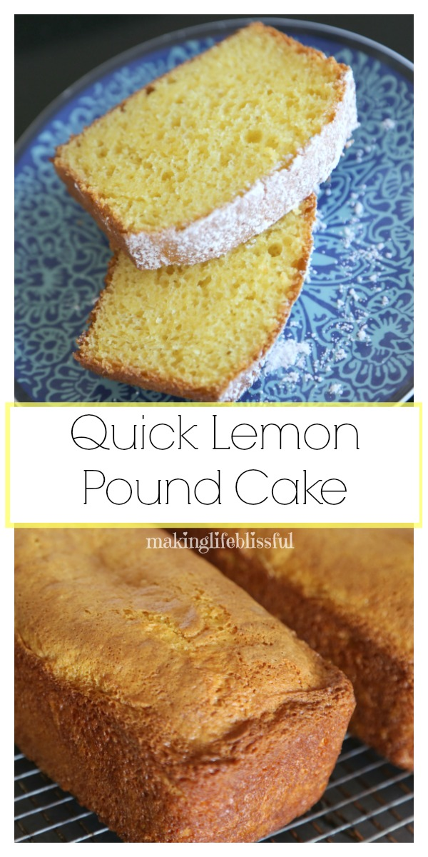 Quick Lemon Pound Cake | Making Life Blissful