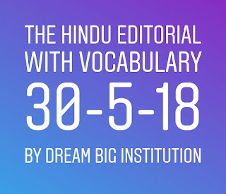 The HINDU Editorial With Important Vocabulary
